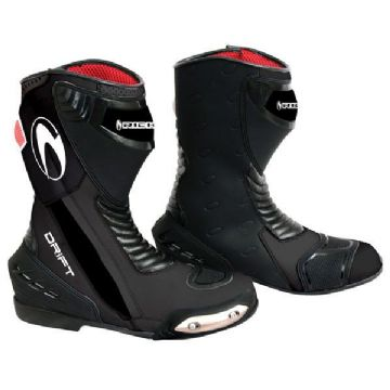 Richa Drift Waterproof Leather Motorcycle Sports Boot - Black